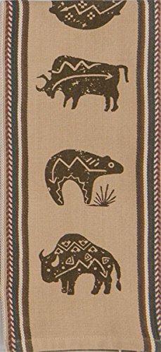 Kay Dee Designs V4253 Buffalo Southwest Printed Woven Tea Towel