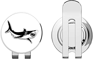 888 Graphics Great White Shark Golf Hat Clip with Magnetic Ball Marker