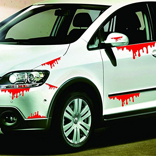 Euone  Halloween Clearance , Car Wall Home Blood Sticker Mural Decor Removable Terror -