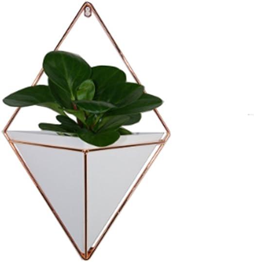 Maceta colgante, metal moderno Jarrón geométrico decoración de la ...