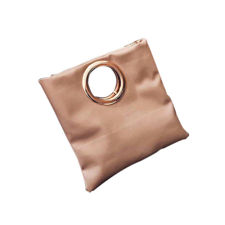 Allywit Women Metal Ring Envelope Bag Folding Clutch Shoulder Messenger Bag