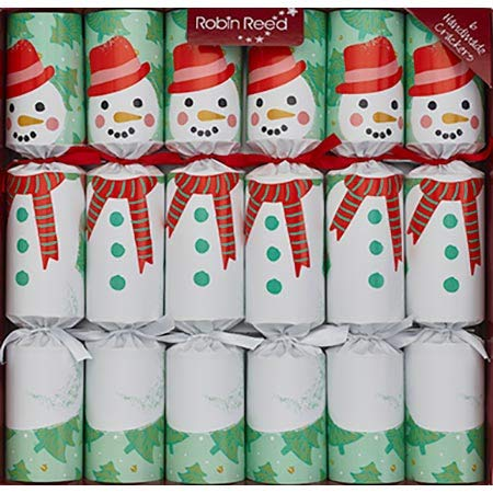 Christmas Cracker Party Favors - Set of 6 Racing Game Snowman Favors