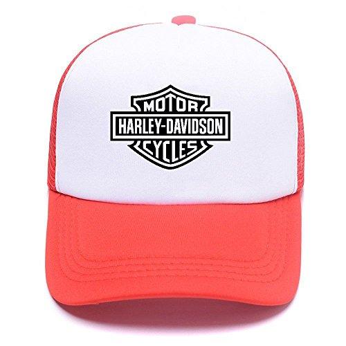 D Baseball béisbol Men 007 Cap Harley de Hat Black Red Gorras Women Mesh Boy Caps Trucker For Girl ESdqnd
