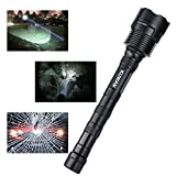KUWAN-LED-Flashlight-3800-Lumens-Cree-XM-L-T6-Super-Bright-Torch-5-Light-Modes-for-Outdoor-Hiking-Camping-with-18650-Rechargeable-Battery-not-included