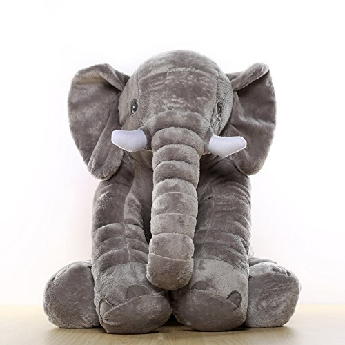 MorisMos Stuffed Elephant Plush Toy Grey 24 inch/60cm