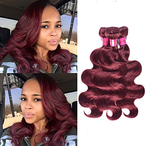 Peruvian Body Wave 99J Red Wine Color 12