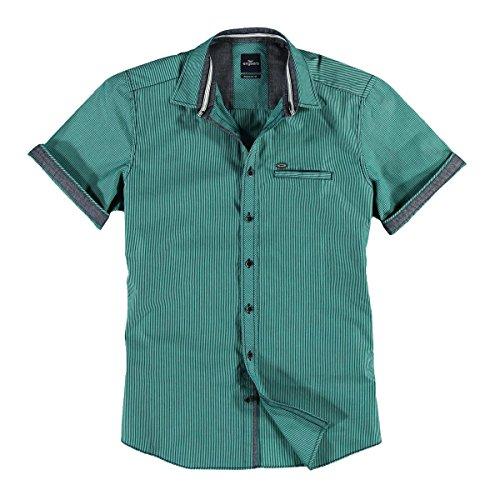 engbers Herren Hemd gemustert, 23940, Türkis