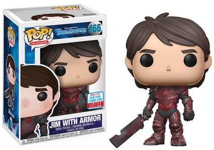 Exclusive Pop! - Trollhunters - Jim with Red Armor with NYCC Sticker