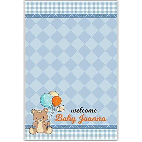 Amazoncom Teddy Bear With Balloons Baby Shower Guestbook Poster