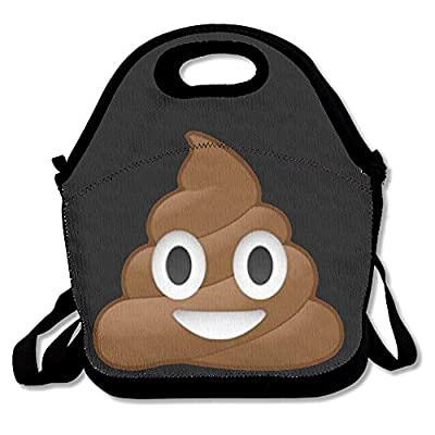 SUNG916 POOP Emoji Reusable Lunch Bags