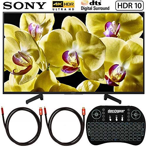 Sony XBR-49X800G 49-inch 4K Ultra HD LED TV (2019 Model) Bundle with...