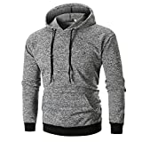 Zainafacai New Blouse,Men's Long-Sleeve Bodybuilding Sport Hoodies Slim Fit Sweater (Gray, XL)