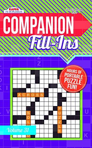 Companion Fill-Ins Puzzle Book - Volume 31