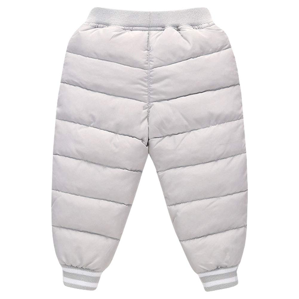 LSERVER Unisex Baby Girl Boy Down Cotton Ski Pant Kid Winter Warm Snow Trousers Toddler Lightweight Windproof Outerwear