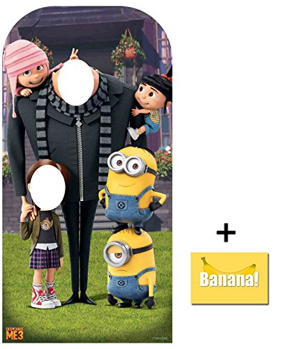 Fan Pack - Despicable Me Gru and the Minions Stand- In Cardboard Cutout / Standup - Includes 8x10 Star Photo ()