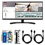 LG 21:9 QHD IPS 34' Monitor (34UM88C) with Xtreme Performance TV/LCD Screen Cleaning Kit, Xtreme 6 Outlet Power Strip & 2X General Brand HDMI to HDMI Cable 6'