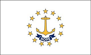 product image for Valley Forge Flag 2-Foot by 3-Foot Nylon Rhode Island State Flag with Canvas Header and Grommets