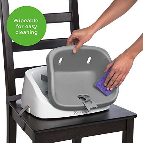 Ingenuity SmartClean Toddler Booster Seat - Slate (Item may slightly vary)