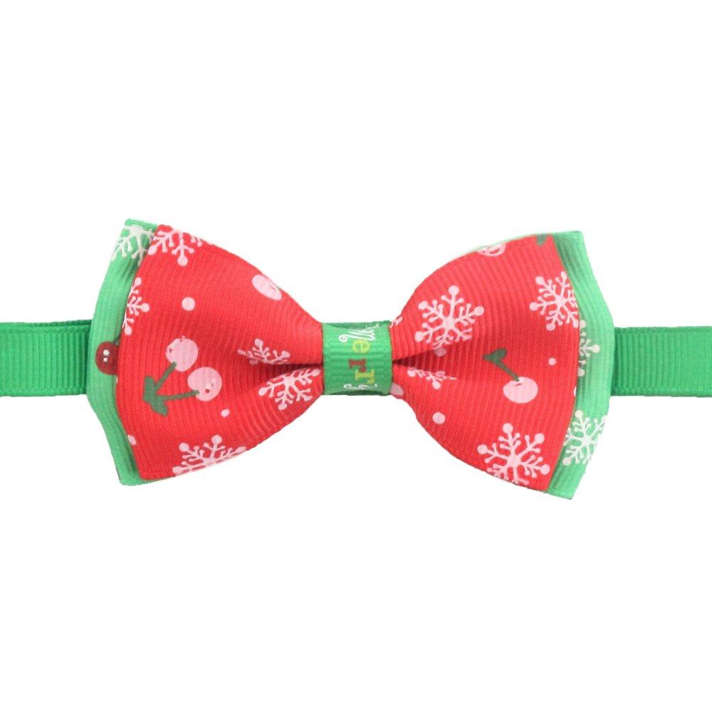 50PCs Dog Cherry Collar Handmade Bow Tie Merry Christmas Dress up Small Medium Dog