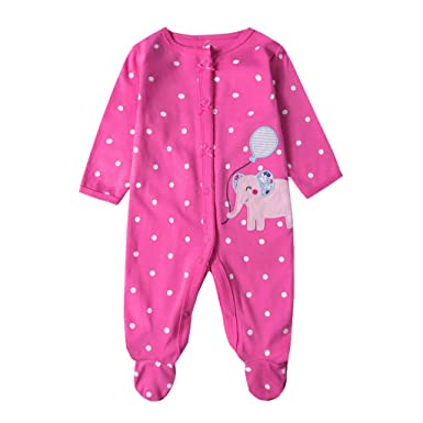 Recién Nacido Pijama Bebé Pelele Niñas Mameluco Algodón Caricatura Trajes 0-12 Meses