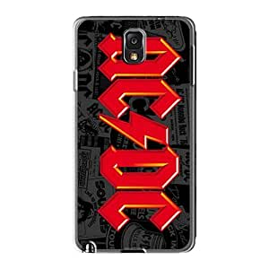 Shock-Absorbing Hard Phone Covers For Samsung Galaxy Note3 (Qre1866PLJW) Custom Realistic Ac Dc Band Pictures
