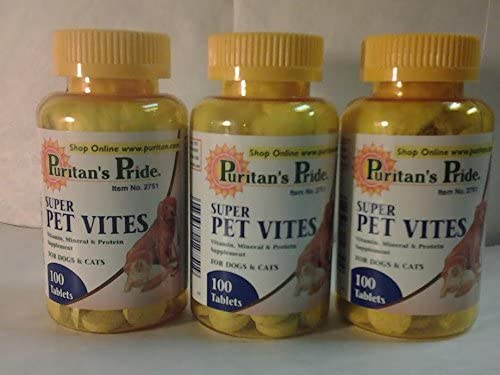 Super Pet Vites 100ct 3 Bottles