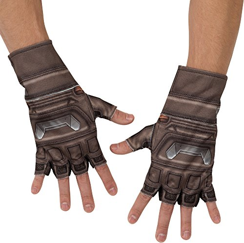 Captain America 2 Adult Costumes Gloves (Rubie's Costume Co Men's Avengers 2 Age Of Ultron Adult Captain America Gloves, Multi, One Size)