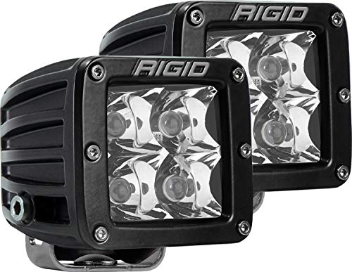 Rigid Industries 202213 LED Light (D-Series Pro, 3 Inch, Spot Beam, Pair, Universal), 2 Pack