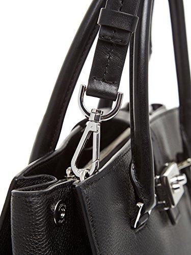 Michael Kors Bond Grande Negro Satchel Bolso Black Leather