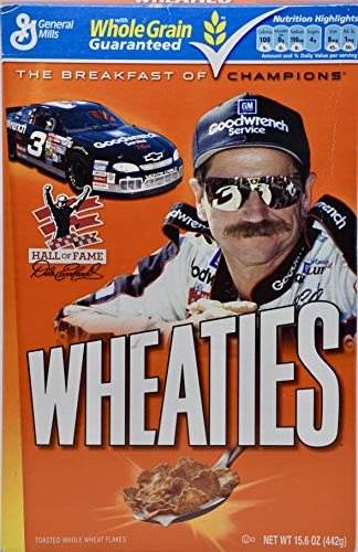 - 2010 - General Mills - Wheaties - Hall of Fame/Dale Earnhardt Box - (Cereal Removed) - Vintage - Collectible
