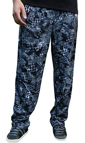- Crazee Wear California Grey Maze Design Relaxed Fit Pants