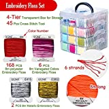 268 Embroidery Floss Set Including Cross Stitch
