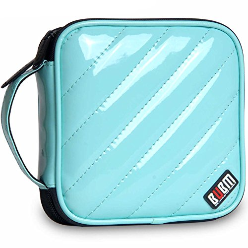 32 Capacity Pu Leather Cover CD / DVD Wallet, Various Colors - Light Blue
