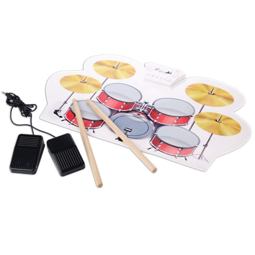 XINGXIANYIGOU Electronic Percussion pad, Folding Drum Shock Absorber, Folding Silicone Electronic Drum MIDI Drum Performance Portable for Beginners