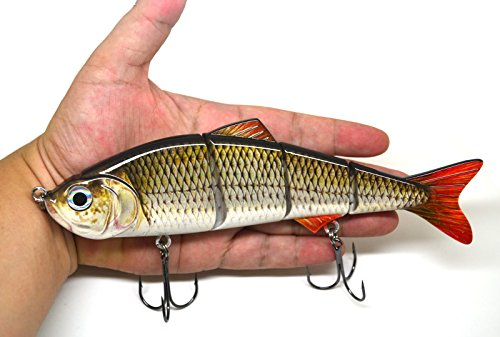 8' Multi Jointed Swimbait Fishing Lures Bait Baits Life-like Lure Minnow Bass Pike Musky NEW (A)