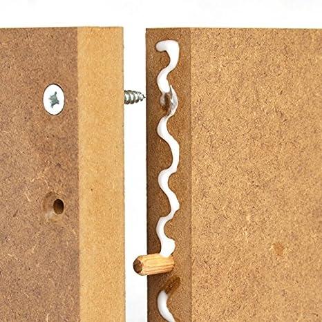 16mm MDF Platte 50x50 cm roh