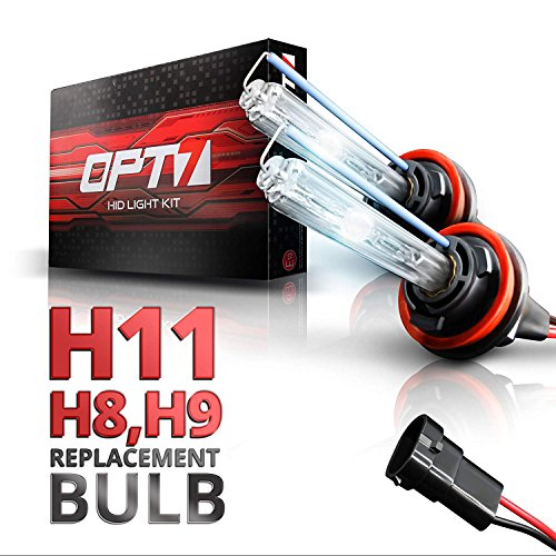 OPT7 2pc Blitz H11 Replacement HID Bulbs [6000K Lightning Blue] Xenon Light