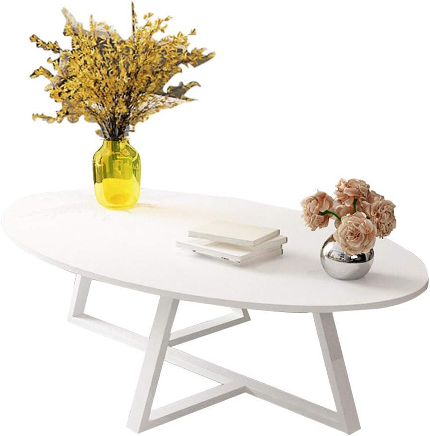Mesa de café Mesa Decorativa de la Sala de Estar de los Muebles rústicos Modernos Madera, Blanco, 100x50cm / 120x60cm: Amazon.es: Hogar