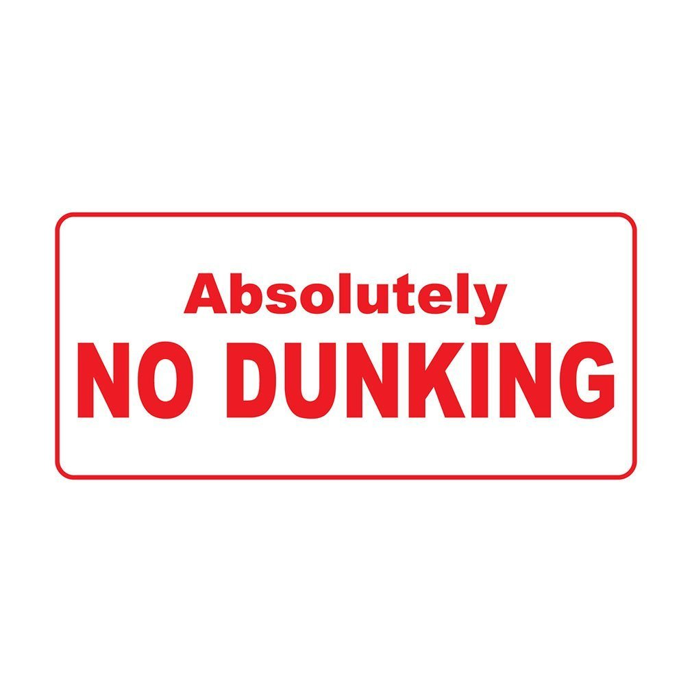 Absolutely No Dunkingレトロヴィンテージスタイルメタルサイン – 8 in x 12 in穴 B01GP8JK2Y