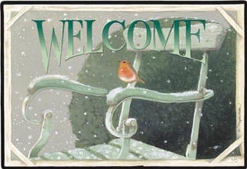 Fiddler s Elbow Winter Robin Doormat