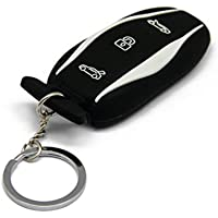 TeslaHome Silicone Car Remote Key Fob Case Cover Holder Keychain for Tesla Model S