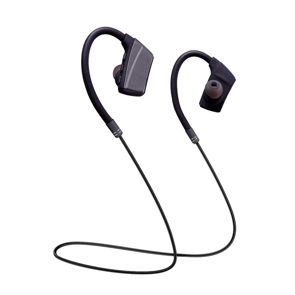Chezaa Hanging Neck Bluetooth Sports Earphone Metal Ear Shell Super Good Sound Quality for Workout,Best Beats Sports Earphones Mic Waterproof Cordless Sports Ear Buds for Gym Jogging