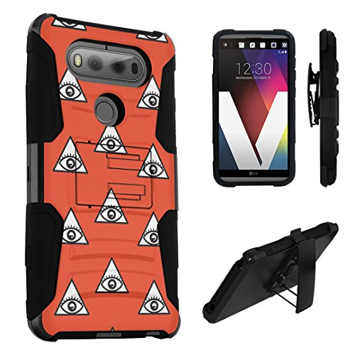 LG V20 Case, DuroCase Hybrid Dual Layer Combat Armor Style Kickstand Case w/ Belt Clip Holster Combo for LG V20 (Released in 2016) - (Eye Of Providence - In Providence Mall