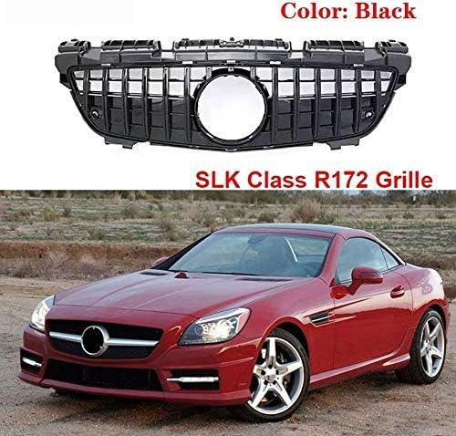 ZFXNB Neue R172 Gt-Kühlergrill-Ersatz-Frontstoßstangengrills Für Mercedes-Benz SLK Klasse 250 350 200 2012-2016, Silber, Silber,Silver