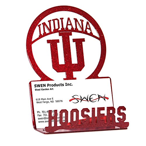 Indiana business card holder indiana hoosiers business card holder the silhouettes are cut from sheets steel and are bent then powder coated to give it swen products indiana hoosiers business card holder colourmoves
