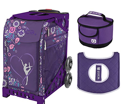 Zuca Sport Bag - Gymnast with Gift Lunchbox and Seat Cover (Purple Frame) by ZUCA