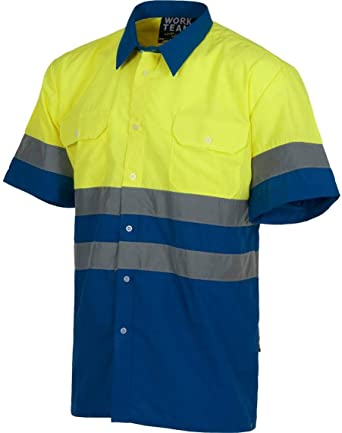Desconocido Camisa de Trabajo con Cintas Reflectantes de Alta Visibilidad: Amazon.es: Ropa y accesorios