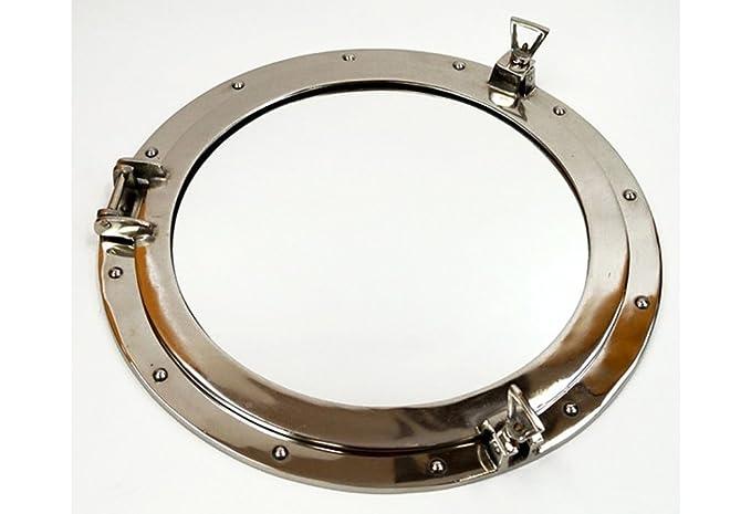Aluminum Chrome Finish Ships Porthole Mirror 20
