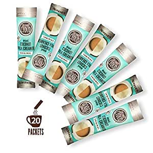 Coconut Cloud: Original Non-Dairy Coffee Creamer, Made from Coconut Powdered Milk with MCT Oil | Vegan, Plant Based, Non GMO, Gluten & Soy Free (Nut Cream To-Go Dairy Free Sticks), 20 servings