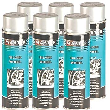 Troton Llantas Barniz 6 x 500 ML Spray Plata Llantas Barniz Spray Llantas Plata Auto: Amazon.es: Coche y moto